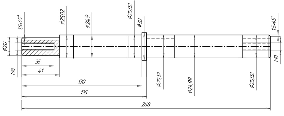 Калькулятор расчета стоимости изготовления валов